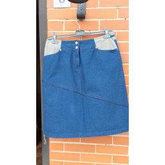 Jupe mi-longue Bleu de Sym  pas cher