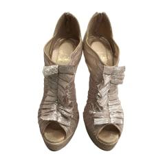 Bottines & low boots à talons Christian Louboutin  pas cher