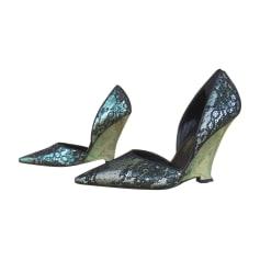 Escarpins compensés Yves Saint Laurent  pas cher