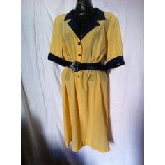 Robe mi-longue Vintage 1980  pas cher