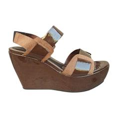 Sandales compensées Marni  pas cher