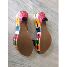 Sandales à talons Couleur Pourpre  pas cher