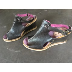Sandales compensées Kickers  pas cher