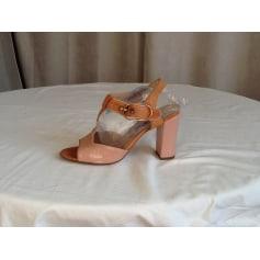 Sandales à talons Rose métal  pas cher
