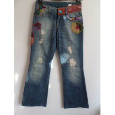 Jeans évasé, boot-cut Desigual  pas cher