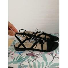 Sandales plates  Bata  pas cher
