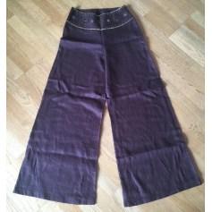 Pantalon très evasé, patte d'éléphant 1.2.3  pas cher