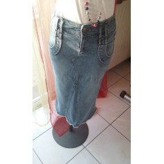 Jupe mi-longue MNG Jeans  pas cher