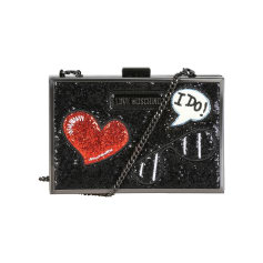 Leather Shoulder Bag Love Moschino