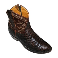 Santiags, bottines, low boots cowboy Mexicana  pas cher