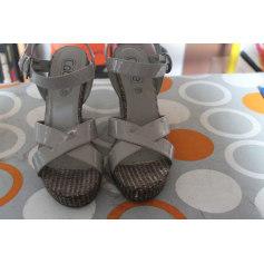 Sandales compensées Gémo  pas cher