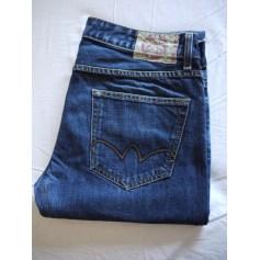 Jeans droit Japan Rags Le Temps Des Cerises  pas cher
