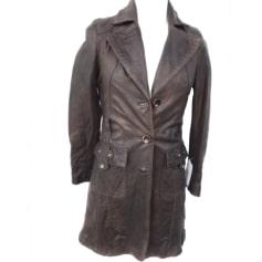 Manteau en cuir Marlboro Classics  pas cher
