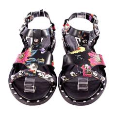 Sandales plates  Alexander McQueen  pas cher