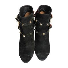 Bottines & low boots à talons Valentino Rockstud pas cher