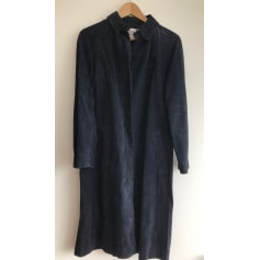 Manteau en cuir Galeries Lafayette  pas cher