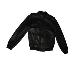 Leather Zipped Jacket Sandro