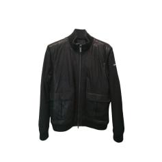 Leather Zipped Jacket Armani Jeans