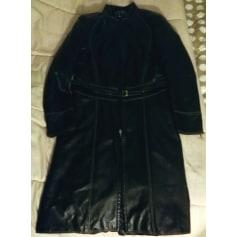 Manteau en cuir Trussardi Jeans  pas cher