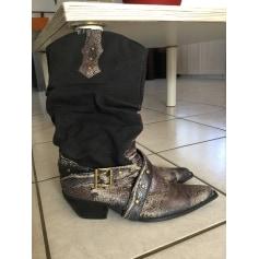 Santiags, bottines, low boots cowboy   pas cher
