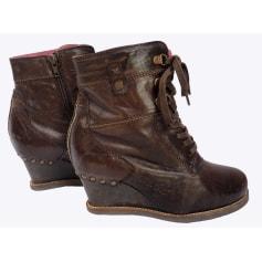 Bottines & low boots à compensés Kickers  pas cher