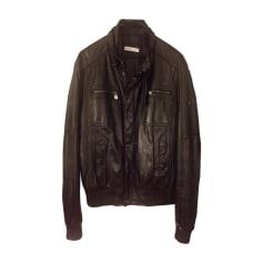 Leather Zipped Jacket Trussardi