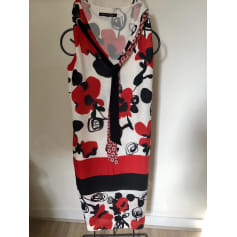 Robe mi-longue Bleu Blanc Rouge  pas cher