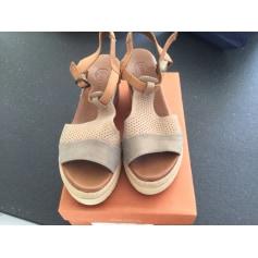 Sandales compensées Gadea  pas cher