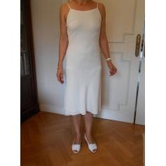 Robe mi-longue Blanc Bleu  pas cher