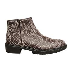 Bottines & low boots plates Lanvin  pas cher