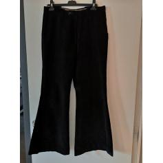 Pantalon très evasé, patte d'éléphant 100% Vintage  pas cher