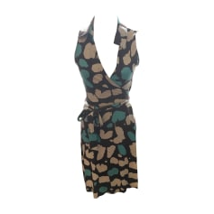Robe mi-longue Diane Von Furstenberg  pas cher