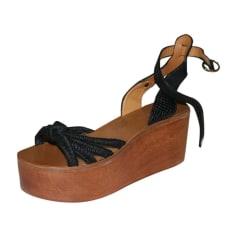 Sandales compensées Isabel Marant Etoile  pas cher