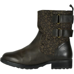 Bottines & low boots motards DKNY  pas cher