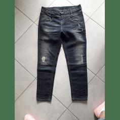Jeans large, boyfriend Benetton  pas cher