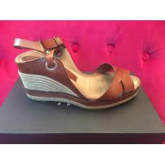 Sandales compensées Caroll  pas cher