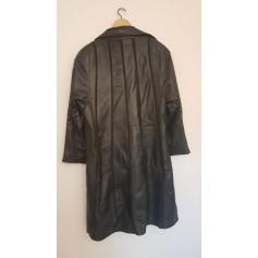 Manteau en cuir   pas cher