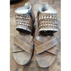 Sandales compensées Regard  pas cher