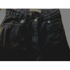 Pantalon droit Mat de Misaine aspect suédine  pas cher