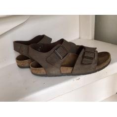 Sandales plates  Birkenstock  pas cher