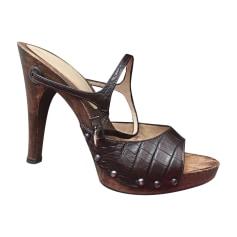 Escarpins à bouts ouverts Versace  pas cher