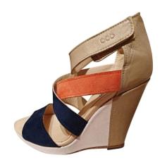 Sandales compensées Serafini  pas cher