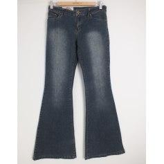 Jeans très evasé, patte d'éléphant La Halle Aux Vêtements  pas cher