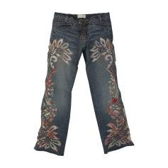 Jeans très evasé, patte d'éléphant Roberto Cavalli  pas cher