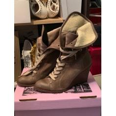 Bottines & low boots à compensés Fanny Chaussures  pas cher