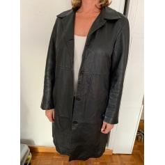 Manteau en cuir C2C Cedosce  pas cher