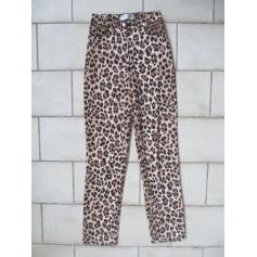 Pantalon droit Cottonade  pas cher