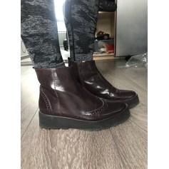 Bottines & low boots à compensés Eden  pas cher