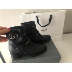 Bottines & low boots motards Minelli  pas cher