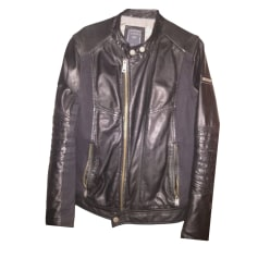 Leather Zipped Jacket Guess